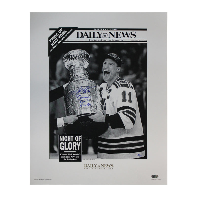 Mark Messier New York Rangers Autographed and Inscribed