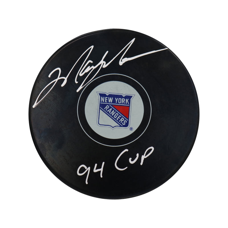 Mark Messier New York Rangers Autographed New York Rangers Puck with