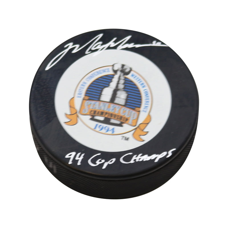 Mark Messier Autographed New York Rangers 1994 Stanley Cup Puck w/ 94 Cup Champs Inscription (Pre-Sale)