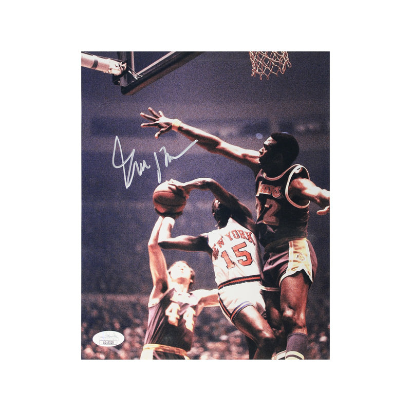 Earl Monroe New York Knicks Autographed Driving vs. Lakers 8x10 Photograph (JSA Authenticated)