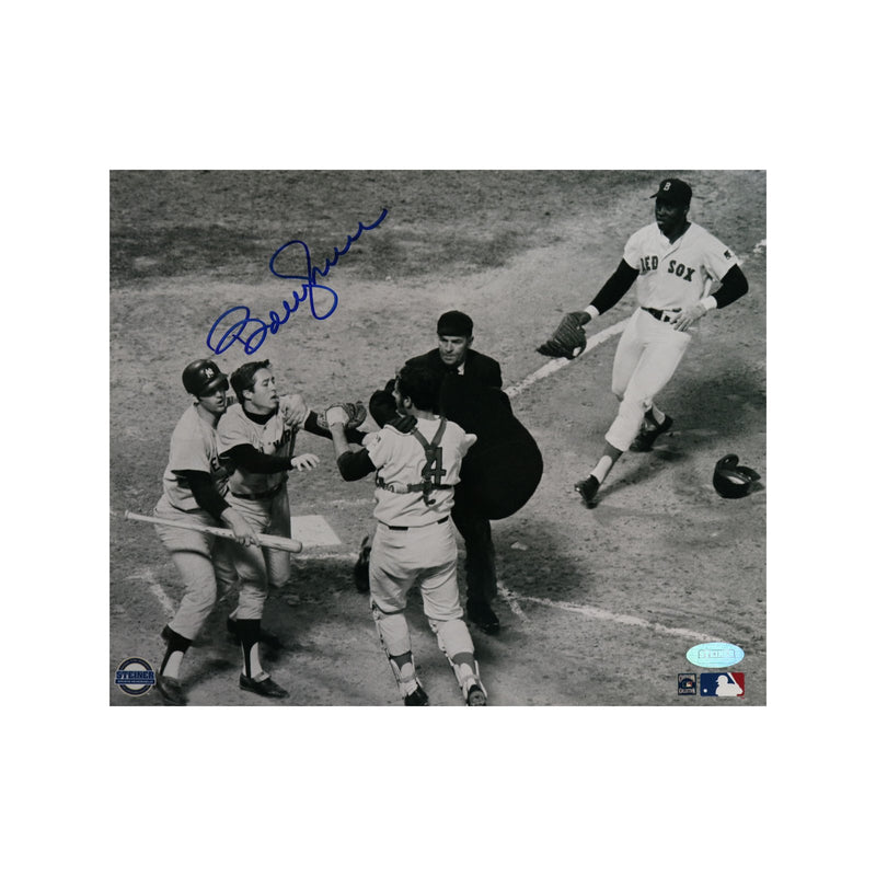 Bobby Murcer New York Yankees Fight vs Red Sox Autographed 8x10 Photo(Steiner Hologram Only)