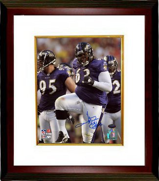 Terrence Cody signed Baltimore Ravens 8x10 Photo Custom Framing