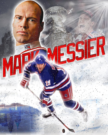 Mark Messier New York Rangers Autographed 16x20 Montage
