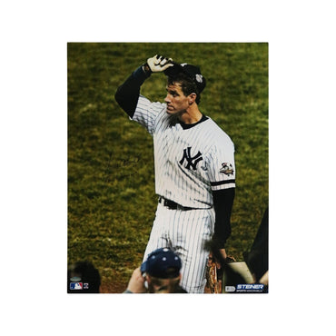 "Paul O'Neill New York Yankees Autographed Autographed Tip Cap Photo with ""The Warrior"" Inscribed 16x20 Photo"