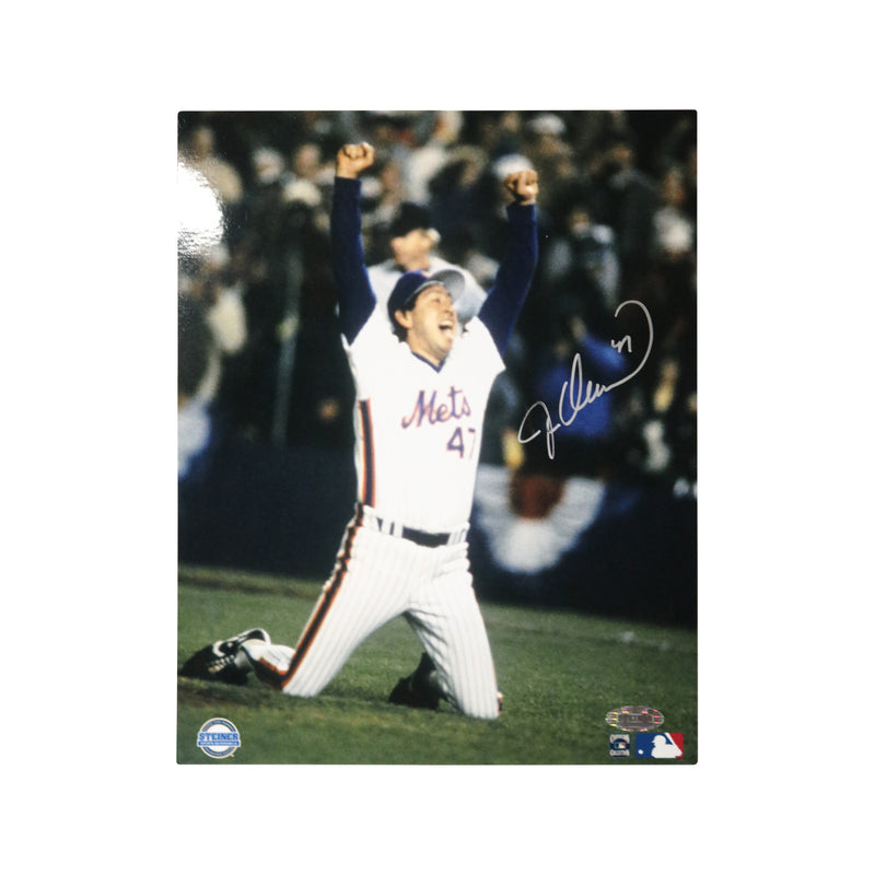 Jesse Orosco New York Mets Autographed 1986 World Series Celebration 8x10 Photograph