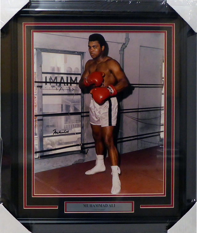 Muhammad Ali Autographed Framed 16x20 Photo PSA/DNA #T00385