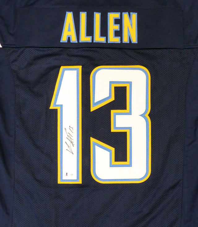 Los Angeles Chargers Keenan Allen Autographed Navy Blue Jersey Beckett BAS Stock #133517