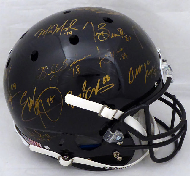 Heisman Trophy Winners Autographed Full Size Black Helmet With 23 Signatures Including Barry Sanders, Bo Jackson & Marcus Mariota (Smudges) Steiner Holo #SS149843