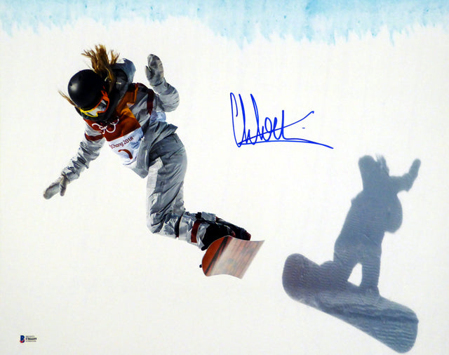 Chloe Kim Autographed 16x20 Photo Team USA Women's Snowboarding 2018 Winter Olympics Beckett BAS Stock #144524