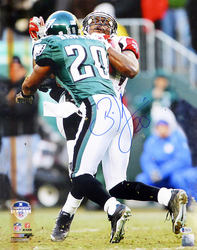 Brian Dawkins Autographed 16x20 Photo Philadelphia Eagles Beckett BAS Stock #158319