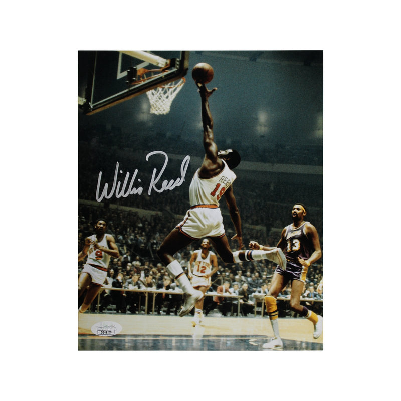 Willis Reed New York Knicks Autographed Layup vs. Lakers 8x10 Photograph - (JSA Authenticated)