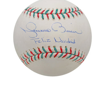 Mariano Rivera with Feliz Navidad Inscription Signed Rawlings MLB Steiner Holiday Baseball