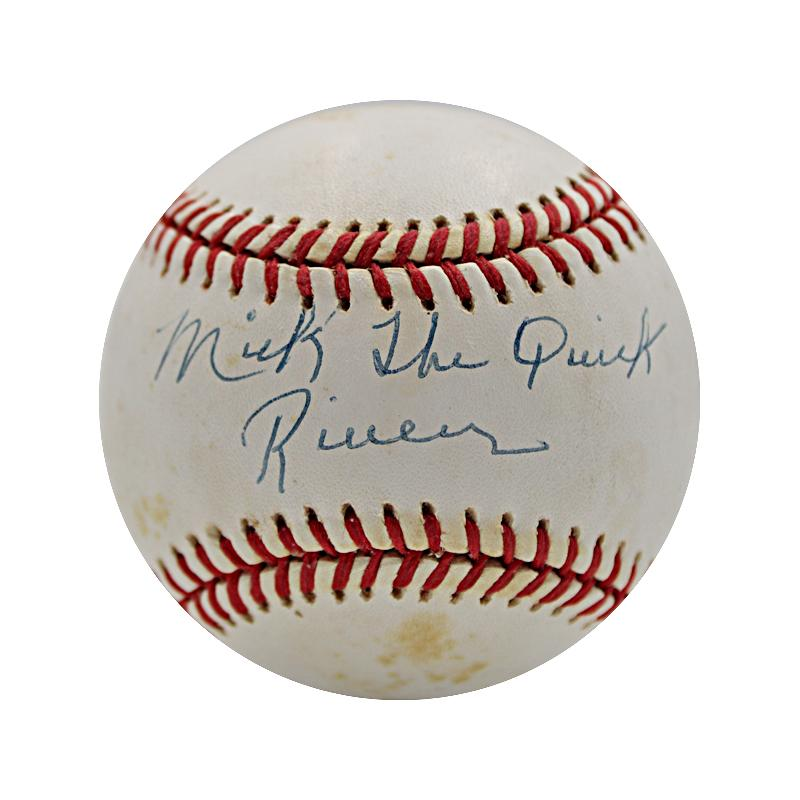Mickey Rivers Yankees, Rangers, Angels Autographed and Inscribed OAL Baseball  (JSA Authenticated)