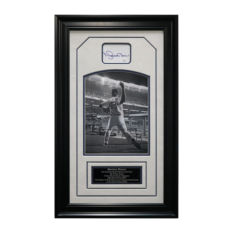 Mariano Rivera New York Yankees Autographed and Framed Black & White Chit Collage - 15