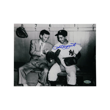 Phil Rizzuto New York Yankees Autographed Autographed Sitting with Frank Sinatra 8x10 Photo