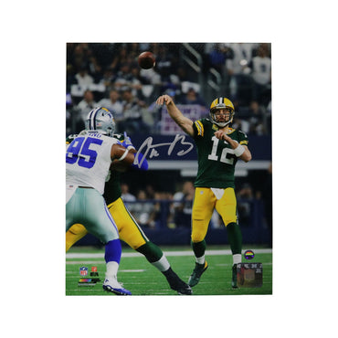 Aaron Rodgers Green Bay Packers Autographed vs. Cowboys 8x10 Photo