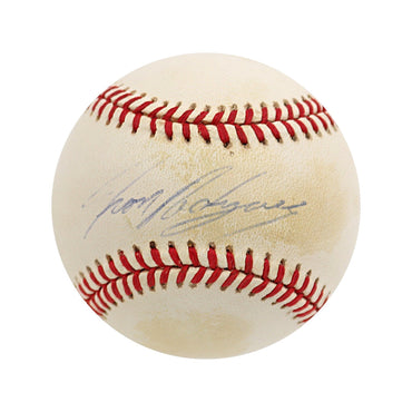 "Ivan Rodriguez Texas Rangers Autographed OAL ""Toned with Faded Signature"" Baseball (Jeff Nelson LOA)"
