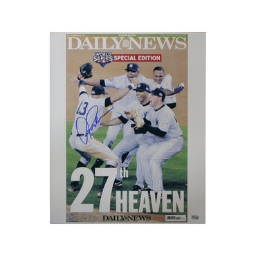 Alex Rodriguez New York Yankees Autographed Daily News Cover 11-05-09 Celebration 16x20 Photo