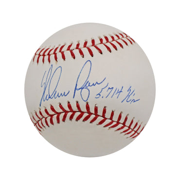 "Nolan Ryan Houston Astros Autographed MLB Baseball with ""5714 K's"" Inscription"