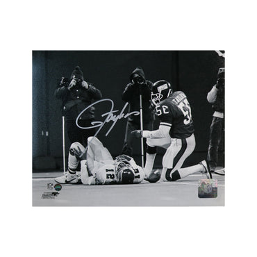 Lawrence Taylor New York Giants Autographed Sacking Randall Cunningham 8x10 Photo
