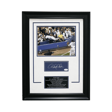 "Derek Jeter New York Yankees Autographed ""The Dive"" 18x24 Framed Chit Collage - L/E of 7 (JSA)"