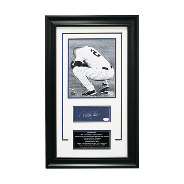 "Derek Jeter New York Yankees Autographed ""Final Stadium Game Career Reflection"" 16x26 Framed  Chit Collage - L/E of  6 (JSA)"