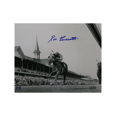 Ron Turcotte Autographed Riding Secretariat at Kentucky Derby 8x10 Photo