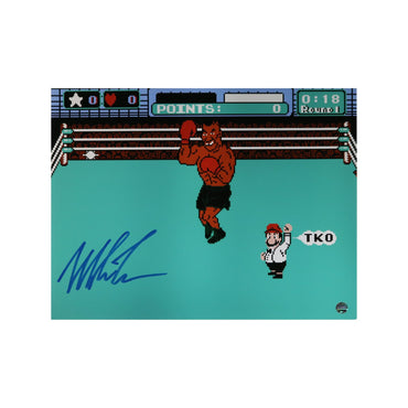 Mike Tyson Autographed Punchout Autographed 16x20 Photograph (Steiner Hologram Only)