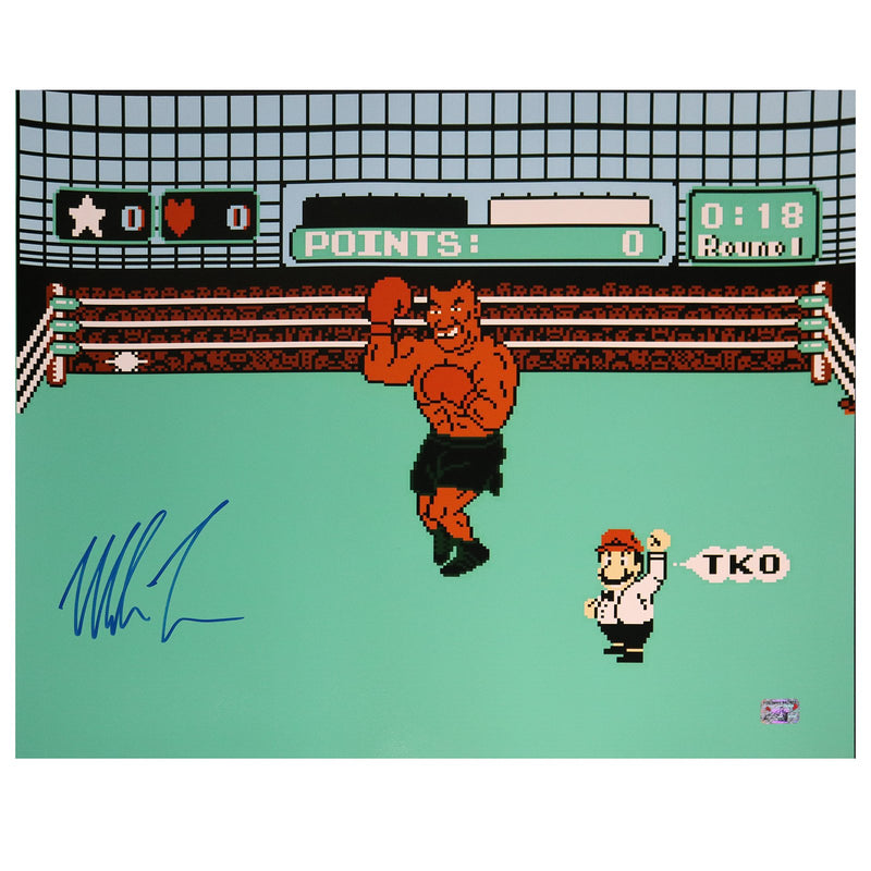 Mike Tyson Autographed Punch-Out!! 16x20 Photograph (Fiterman Hologram Only)