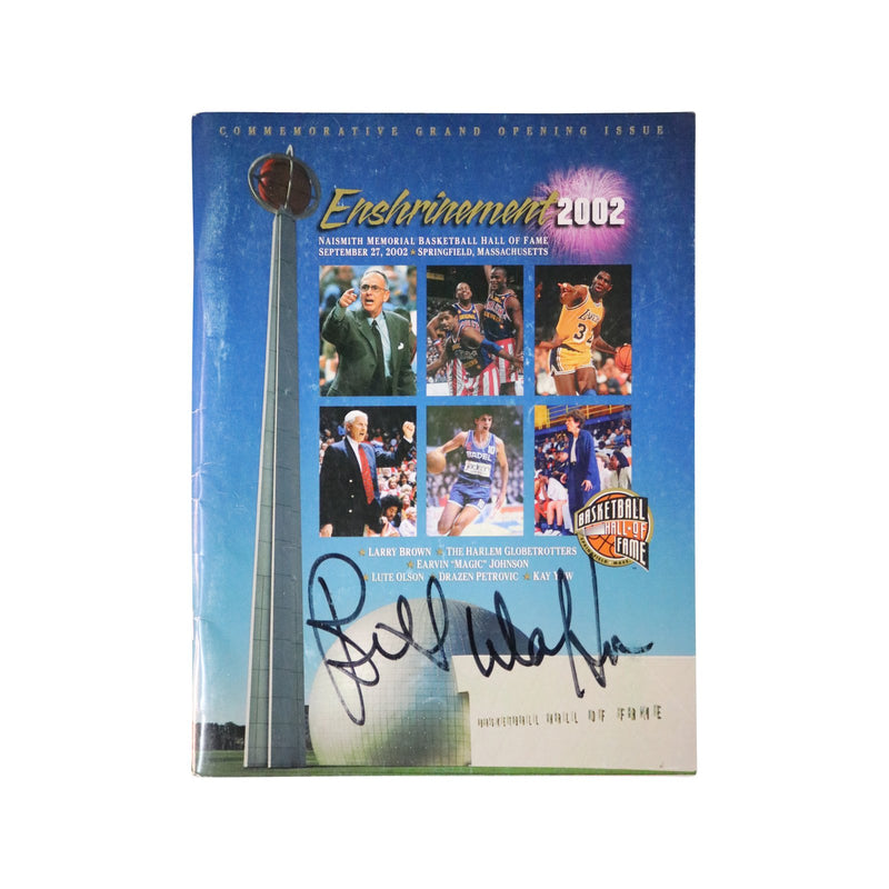 Bill Walton San Diego Clippers Autographed 2002 NBA Hall of Fame Enshrinement Magazine (JSA Authenticated)
