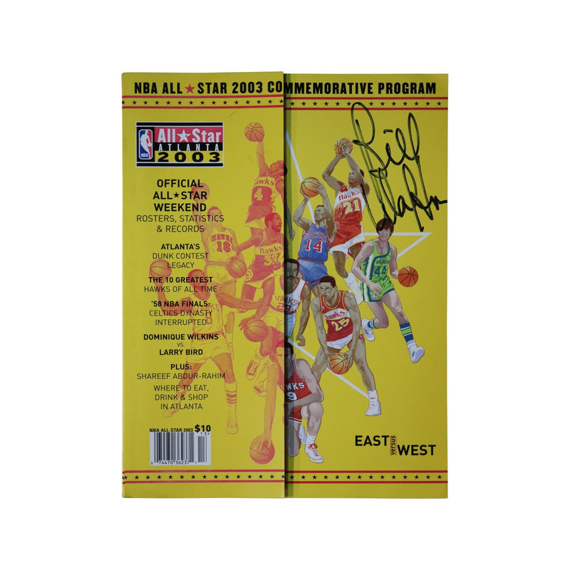 Bill Walton San Diego Clippers Autographed 2003 NBA All Star Game Program (JSA Authenticated)