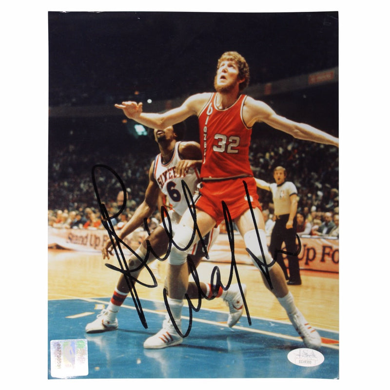 Bill Walton Portland Trail Blazers Autographed Portland vs. Dr. J 8x10 Photograph  (JSA Authenticated)