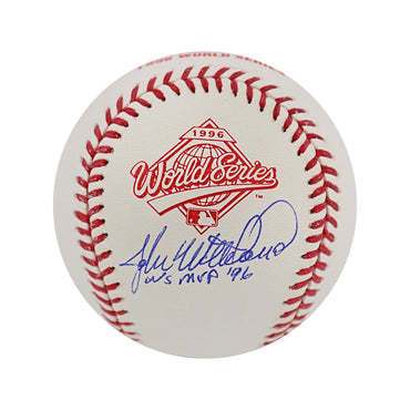 "John Wetteland New York Yankees Autographed 1996 World Series Baseball with ""WS MVP 96"" Inscription (Steiner Authenticated)"