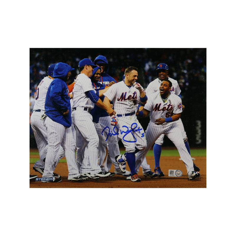 David Wright New York Mets 2016 Walk Off vs. Brewers Celebration Autographed 8x10 Photograph (MLB Authentication)