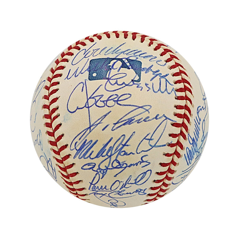 2000 New York Yankees 32 Signature Autographed MLB Baseball - Some Smudging (Jeff Nelson LOA)
