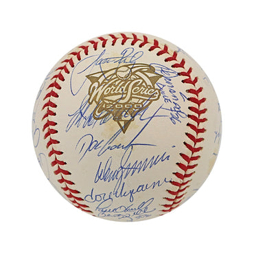 2000 New York Yankees 32 Signature Autographed World Series Baseball - Toned with Some Smudging (Jeff Nelson LOA)