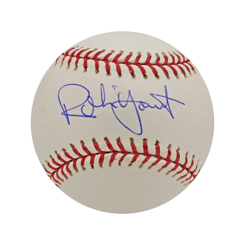 Robin Yount Milwuakee Brewers Autographed MLB Baseball (In Blue Inc) (Steiner Hologram Only)