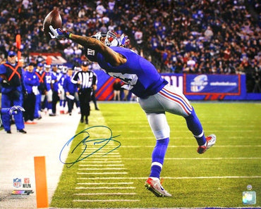 Odell Beckham Jr. New York Giants Autographed Close Up of One Handed Catch vs Cowboys 16x20 Photo