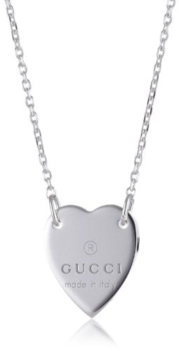 Gucci Necklace Trademark Heart Pendant in Sterling Silver Ybb223512001 - Do Shopping