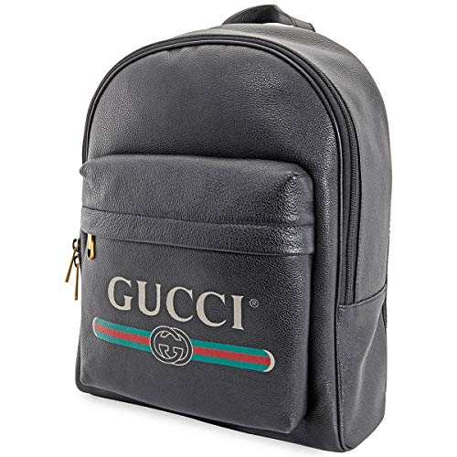 Gucci Print Leather Backpack - Do Shopping