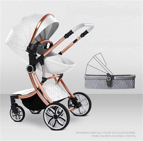 Free Shipping 2020 New 2 in 1 Baby Stroller High Landscape Carriage Double Sided - Do Shopping