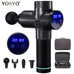 LCD Display Massage Gun Deep Muscle Massager Muscle Pain Body Massage Exercising Relaxation - Do Shopping
