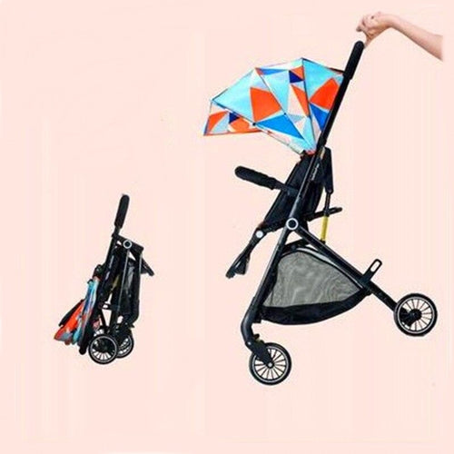 Baby Stroller  Ultra Light Folding Can Sit or Lie Down High Landscape Suitable 4 Seasons - Do Shopping