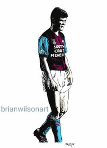 Roy Keane Print by Brian Wilson Art (Unframed)