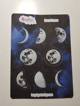 Load image into Gallery viewer, Moon Phase Sticker Sheet