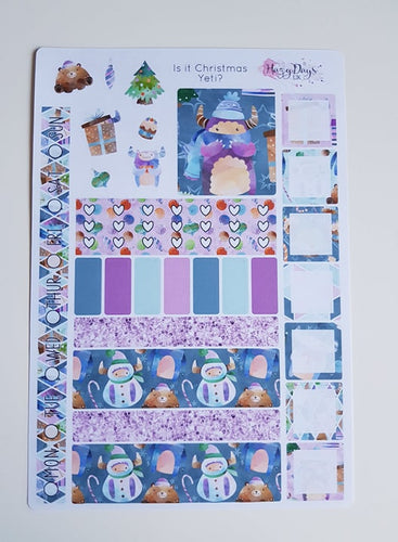 Is It Christmas Yeti? - Weekly Hobonichi Weeks Sticker Kit