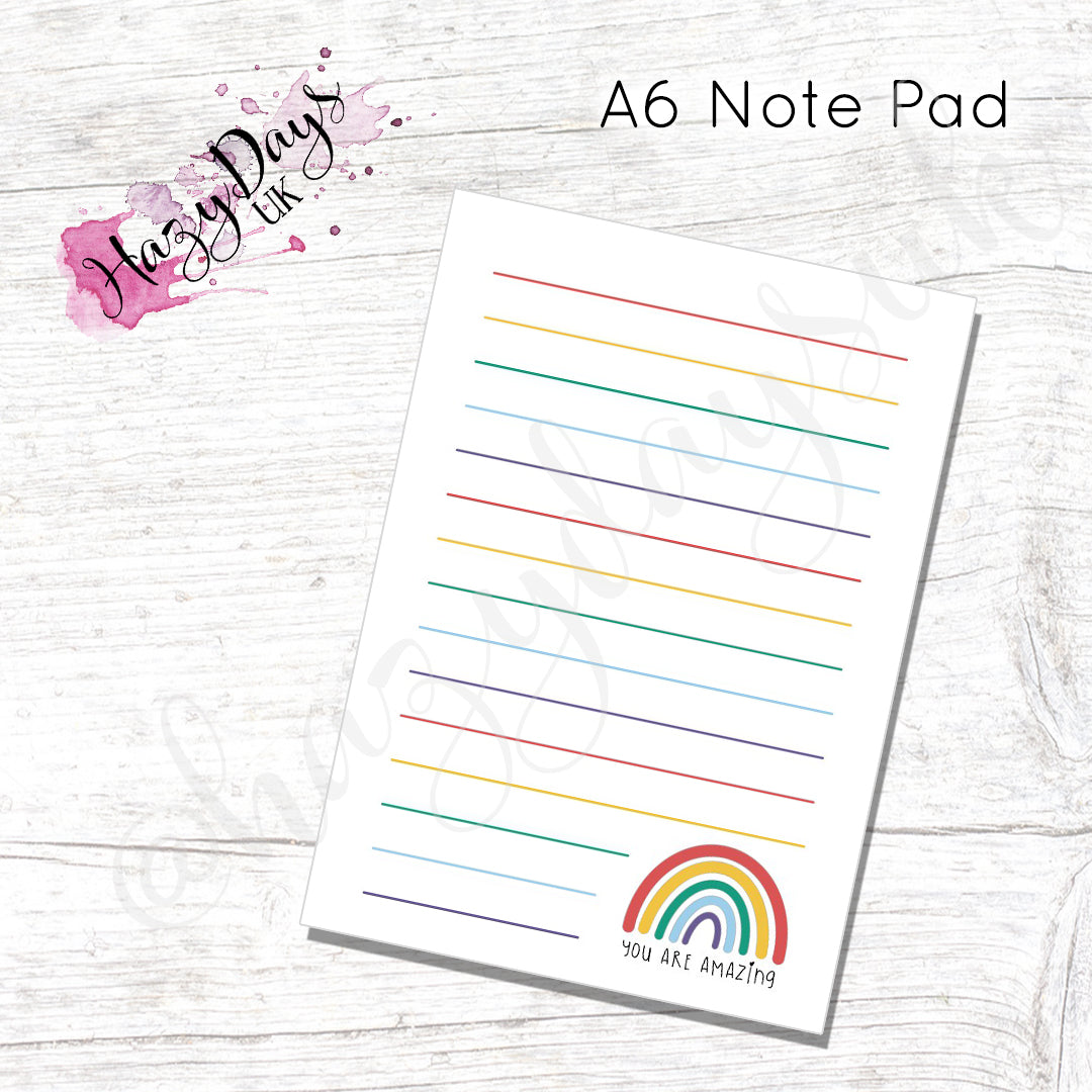 A6 Notebook - Rainbow