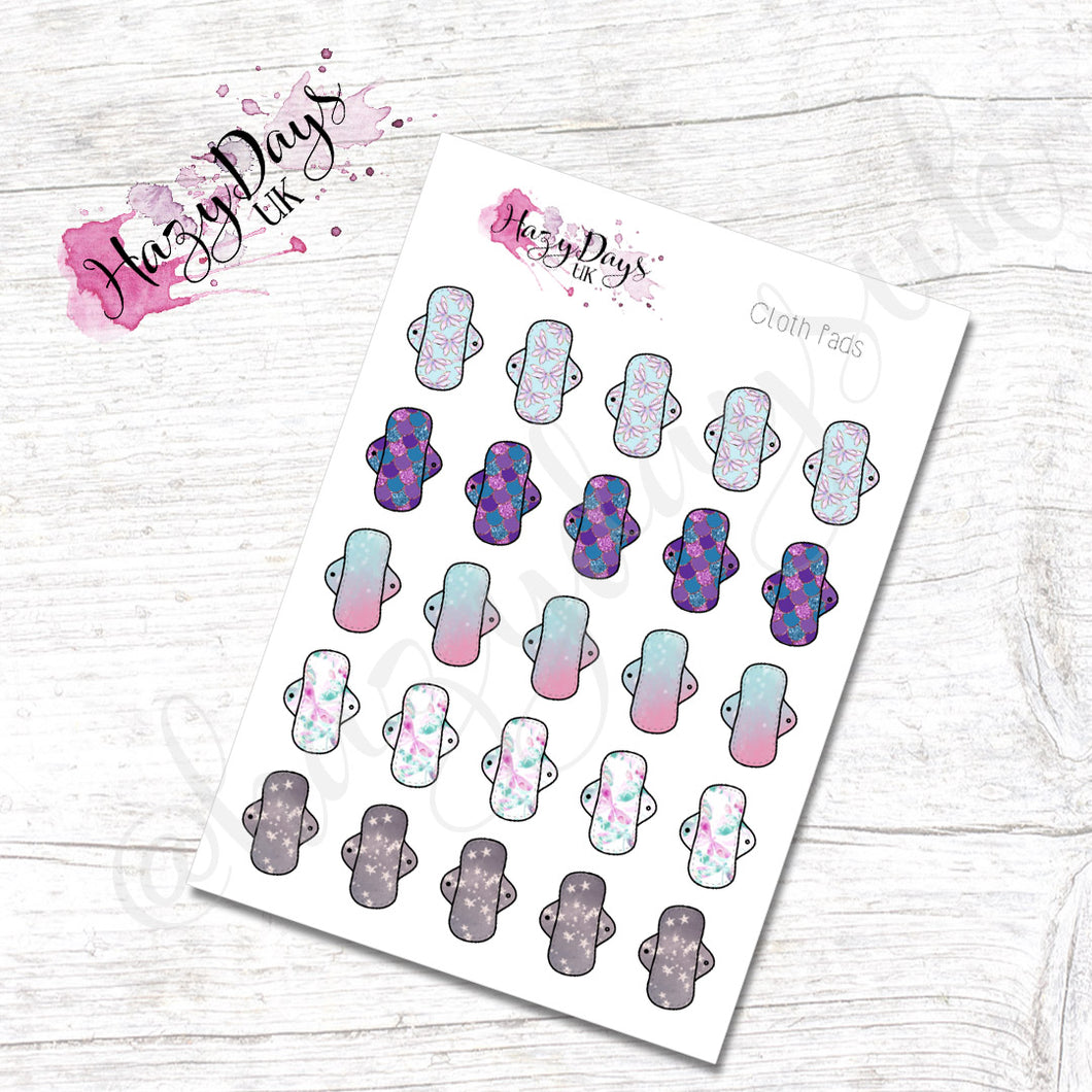 Patterned Cloth Sanitary Pad - Hand Drawn Icon Planner Stickers
