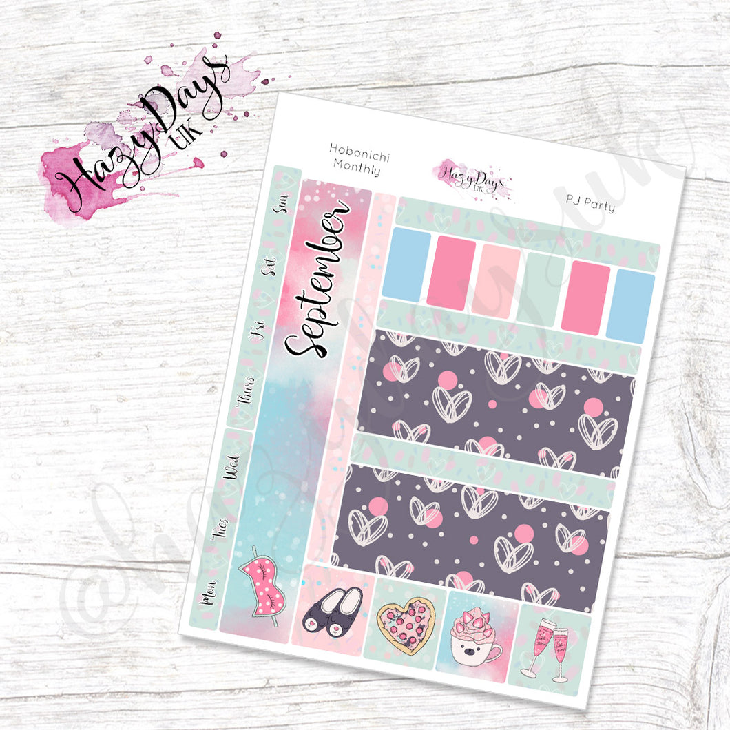 PJ Party - Monthly Hobonichi Weeks Sticker Kit
