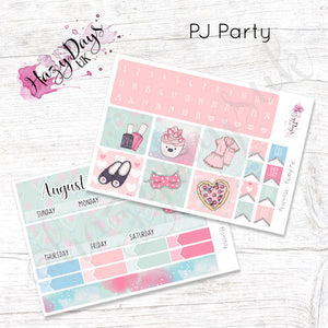 PJ Party - Monthly Planner Stickers